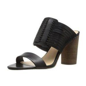 Vince Camuto Leather Black Astar Slide Sandal 7